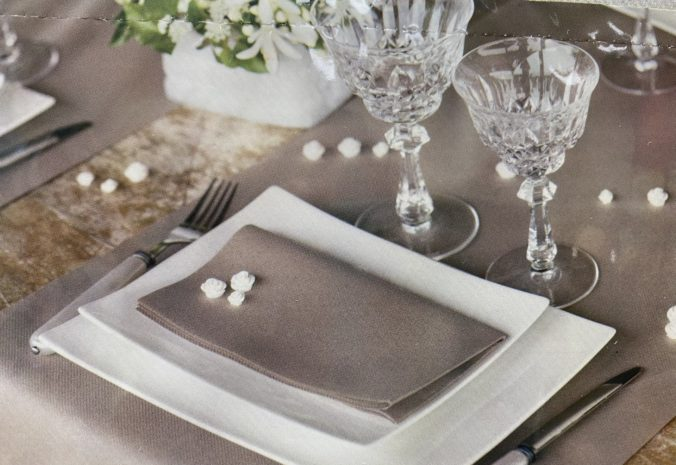 deco de table grise